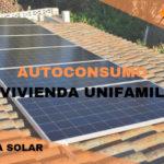 Instalación de paneles solares para autoconsumo en vivienda unifamiliar (Zaragoza)