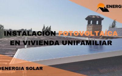 Instalación solar para vivienda unifamiliar (San Juan de Mozarrifar, Zaragoza)