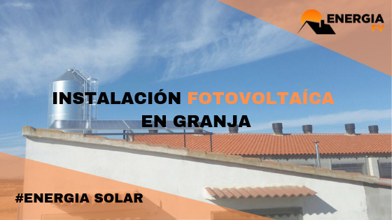 Instalación solar para una granja